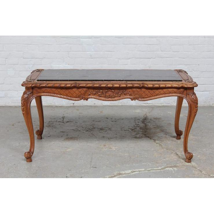 #8227 ヨーロッパ市場在庫品 アンティーク家具 コーヒーテーブル 1920年代 ベルギー原産 オーク/天板大理石製_画像2