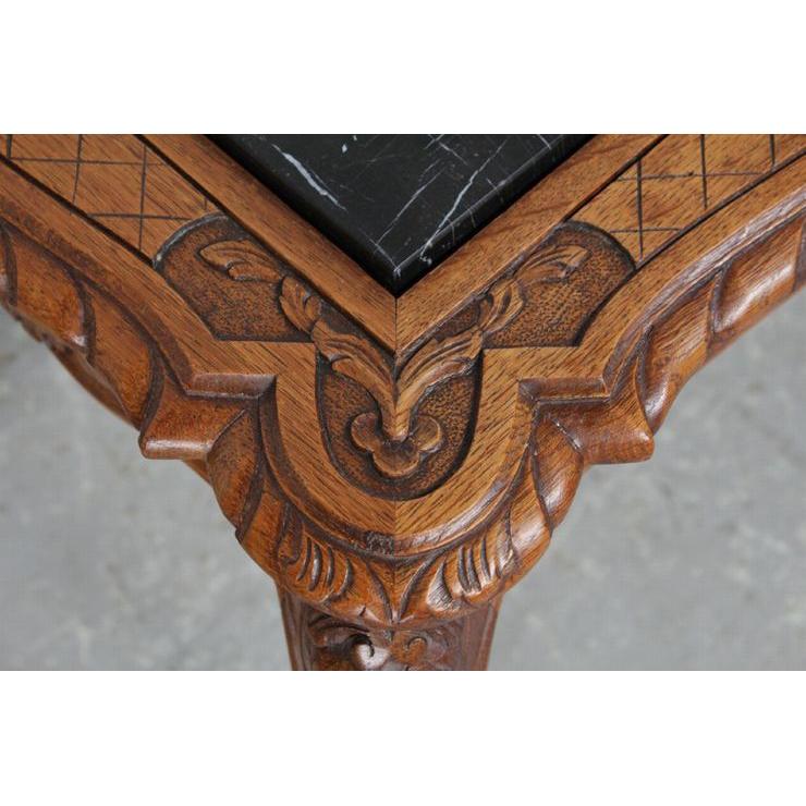 #8227 ヨーロッパ市場在庫品 アンティーク家具 コーヒーテーブル 1920年代 ベルギー原産 オーク/天板大理石製_画像5