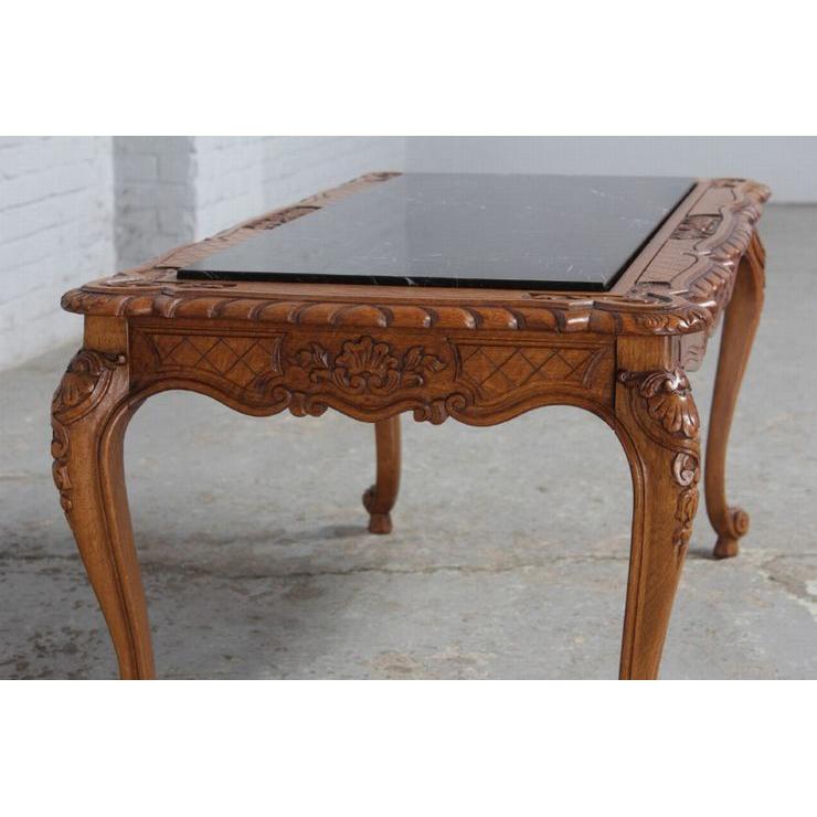 #8227 ヨーロッパ市場在庫品 アンティーク家具 コーヒーテーブル 1920年代 ベルギー原産 オーク/天板大理石製_画像6