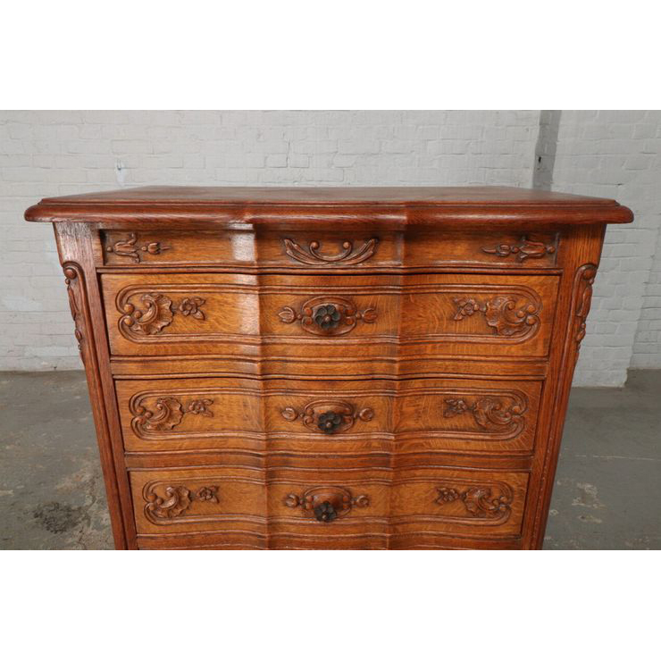 #9342 アンティーク家具 チェスト 1920年代 ベルギー製 オーク 欧州市場 在庫_画像2