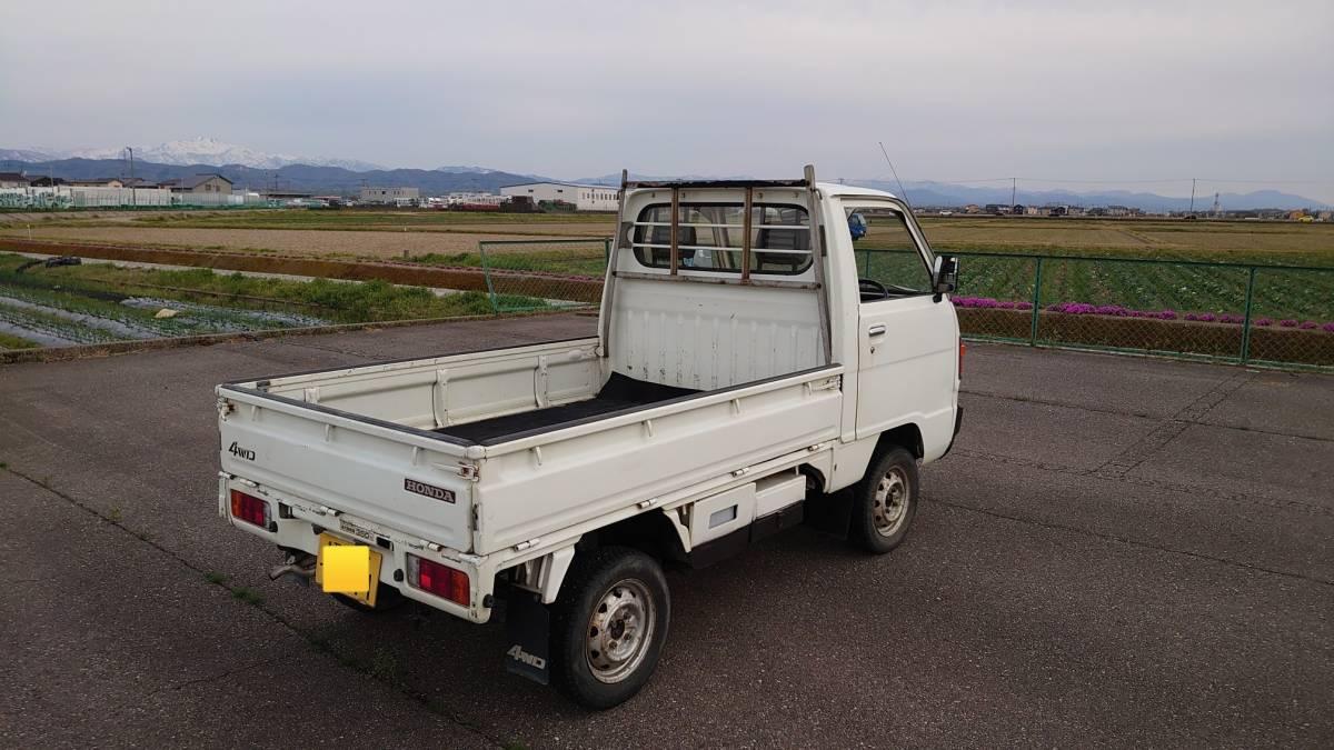 「動画でご説明!石川県から!希少車!旧車!昭和62年(1987年)TNアクティトラック 4WD 5速MT 車検3年4月18日 年代物の割には結構綺麗!走行59000km」の画像2