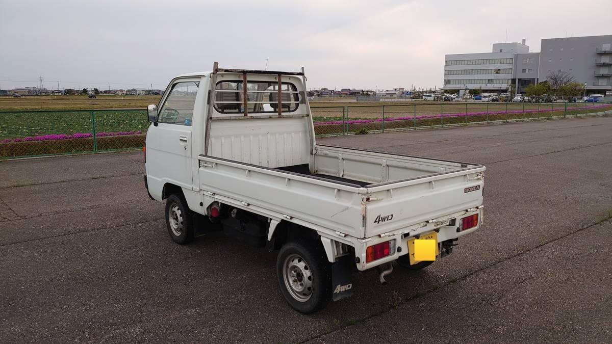 「動画でご説明!石川県から!希少車!旧車!昭和62年(1987年)TNアクティトラック 4WD 5速MT 車検3年4月18日 年代物の割には結構綺麗!走行59000km」の画像3