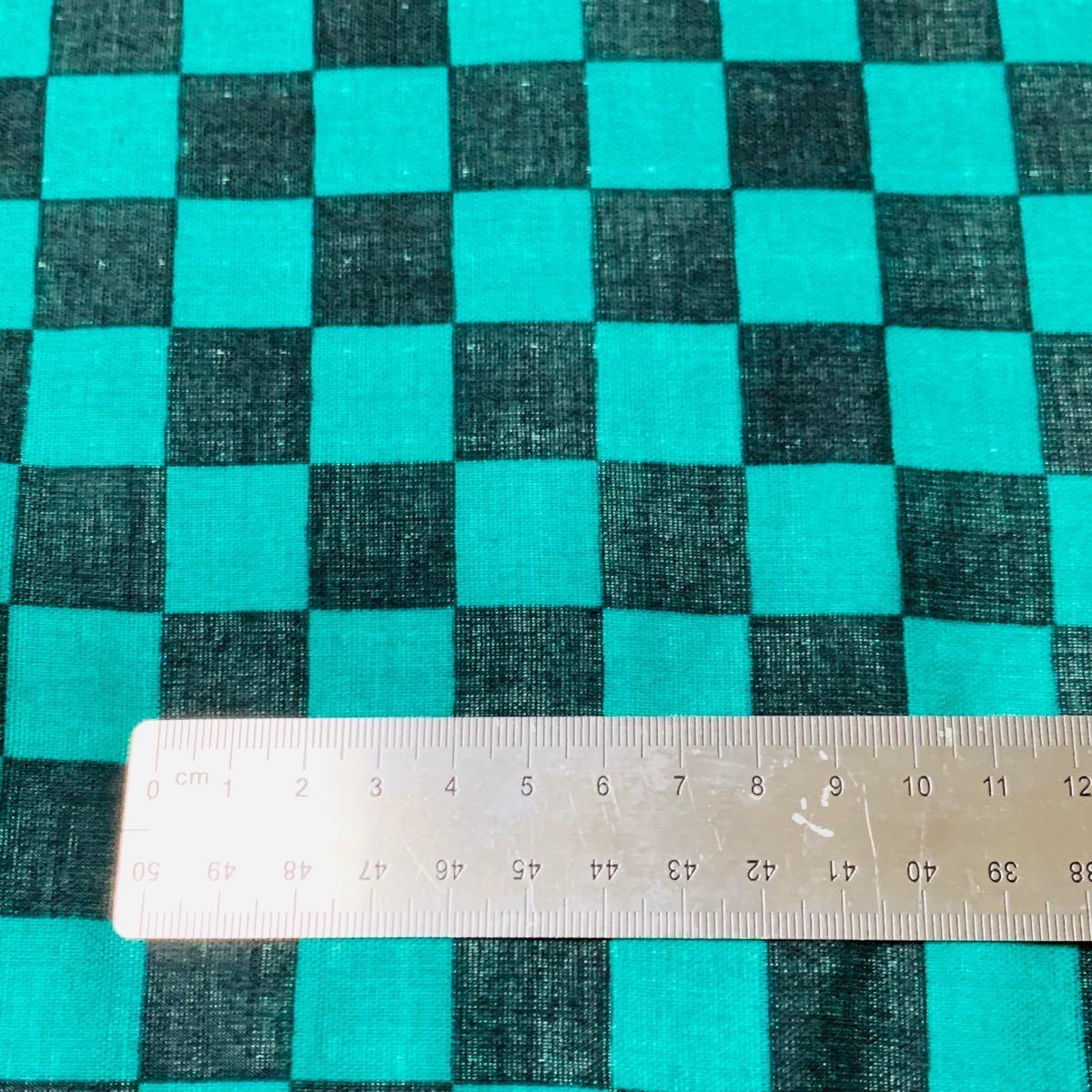 ハンドメイド人気人気小柄☆市松模様☆ダブルガーゼ生地綿100%約110×2メートル和柄はぎれ