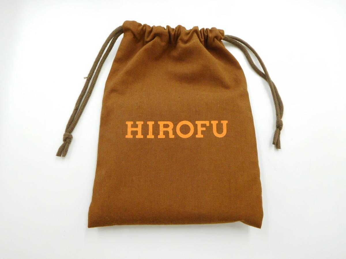 ★【HOROFU】未使用 ヒロフ ラウンドファスアー コンパクト財布 レザー オレンジ_画像9