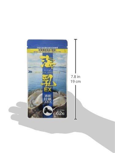 ★2時間セール価格★1袋 販売実績14年の濃縮牡蠣エキス 「海乳EX」 (31日分/62粒)亜鉛 グリコーゲン アルギニン ビタ_画像3