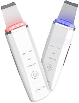 ホワイト ANLAN ウォーターピーリング 美顔器 ems 超音波 ピーリング 光エステ イオン美顔器 スマートピール 毛穴ケア_画像1