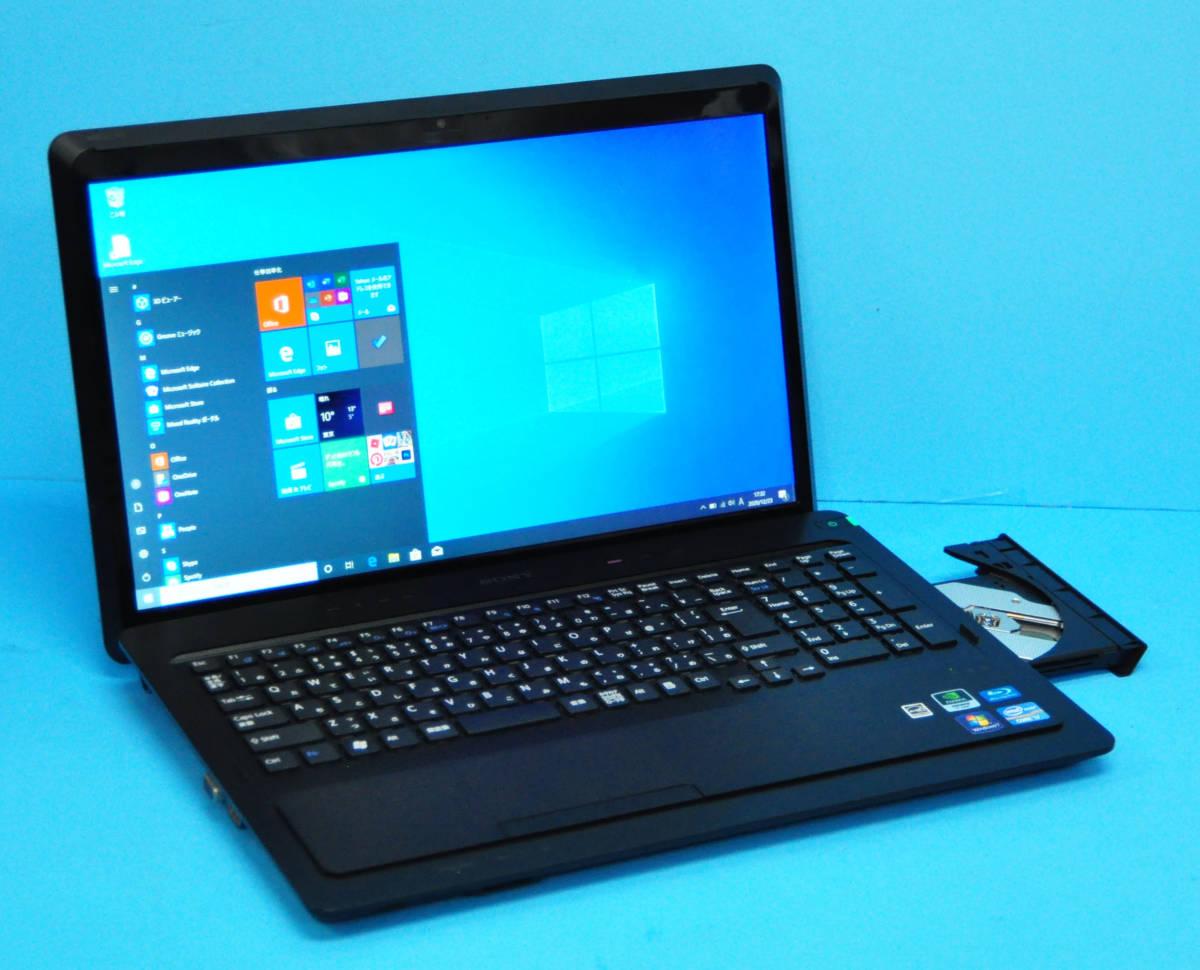 ♪ 良品 上位モデル フルHD VAIO VPCF24AJ ♪ Core i7-2670QM/新品SSD:1TB/メモリ16GB/Geforce GT540M/カメラ/Blu-ray/office2019/Win10_画像1