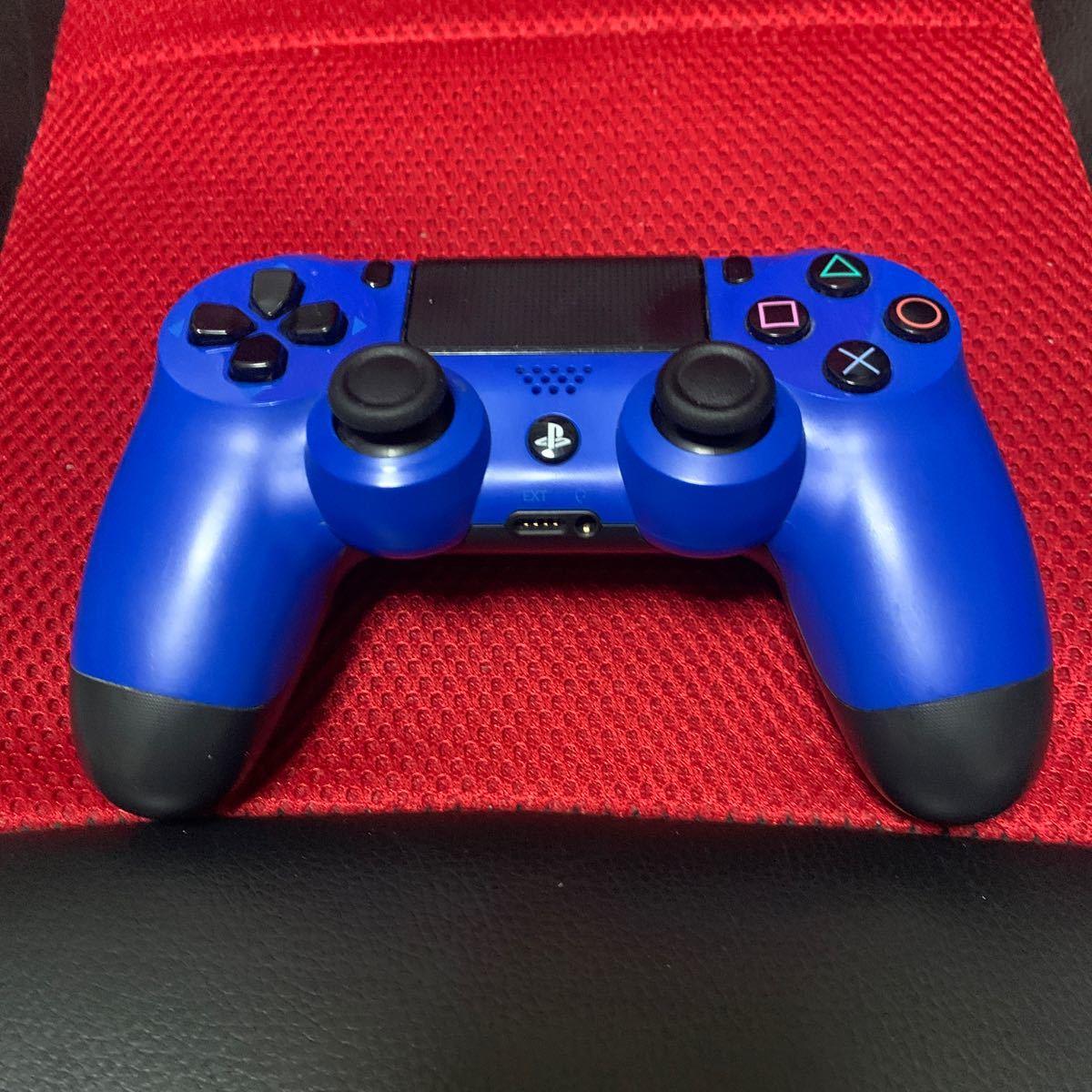 PS4 純正コントローラー ウェイトブルー 純正 デュアルショック4 DUALSHOCK4 ピカピカのクリーニング済み