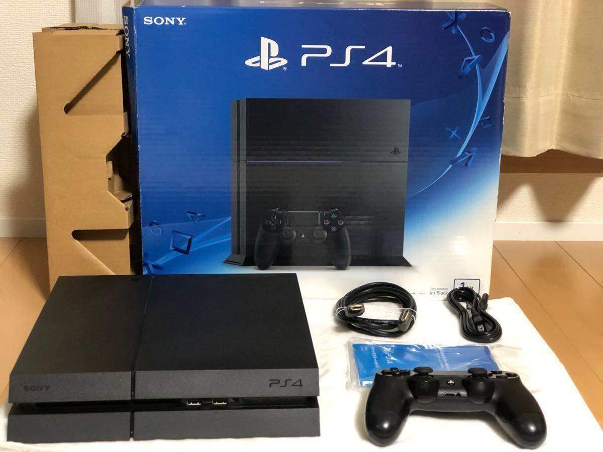 【動作確認済】プレイステーション4 PS4本体 ジェット・ブラック 1TB すぐ遊べます。