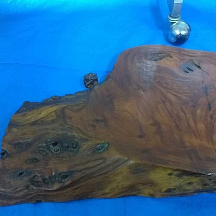 花台 無垢材 一枚板 床の間 和室 飾り台 盆栽台 天然木 自然木 幅約67cm 厚さ約6cm 重さ約8kg 杢 古道具 引取歓迎 八王子_画像3