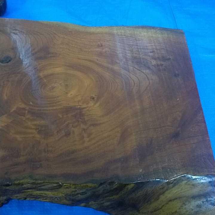 花台 無垢材 一枚板 床の間 和室 飾り台 盆栽台 天然木 自然木 幅約67cm 厚さ約6cm 重さ約8kg 杢 古道具 引取歓迎 八王子_画像2