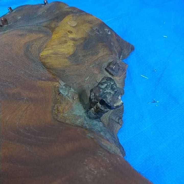 花台 無垢材 一枚板 床の間 和室 飾り台 盆栽台 天然木 自然木 幅約67cm 厚さ約6cm 重さ約8kg 杢 古道具 引取歓迎 八王子_画像7