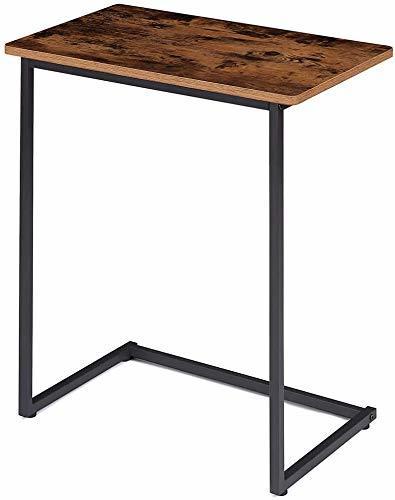 在庫処分価格!!色ヴィンテージ EKNITEY サイドテーブル ソファ ナイトテーブル コ字型 広い天板 パソコン コーヒーテーブ_画像1
