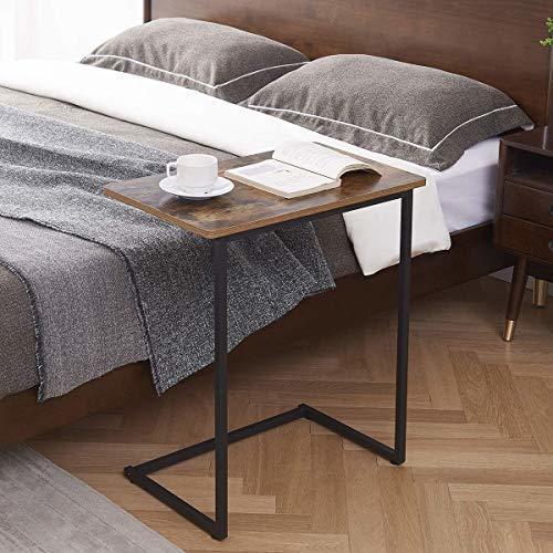 在庫処分価格!!色ヴィンテージ EKNITEY サイドテーブル ソファ ナイトテーブル コ字型 広い天板 パソコン コーヒーテーブ_画像4
