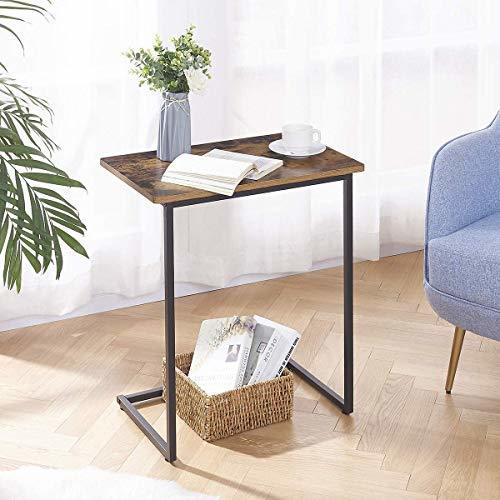 在庫処分価格!!色ヴィンテージ EKNITEY サイドテーブル ソファ ナイトテーブル コ字型 広い天板 パソコン コーヒーテーブ_画像5