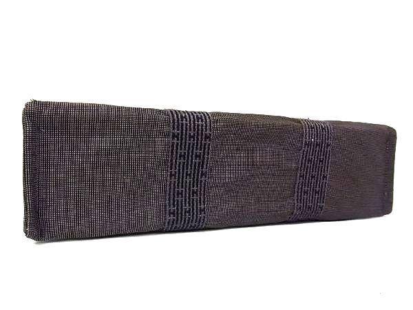 1円 ■美品■ HERMES エルメス エールラインMM キャンバス シルバー金具 トートバッグ ハンドバッグ 手提げかばん グレー系 L7453uA_画像5