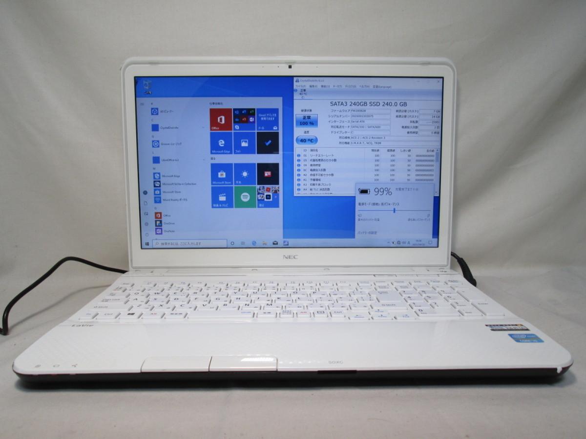 NEC LaVie LS550/LS6W Core i5 3230M 2.6GHz 4GB 240GB 爆速SSD(新品) 15.6型 ブルーレイ Win10 64bit Office USB3.0 Wi-Fi [79089]_画像1