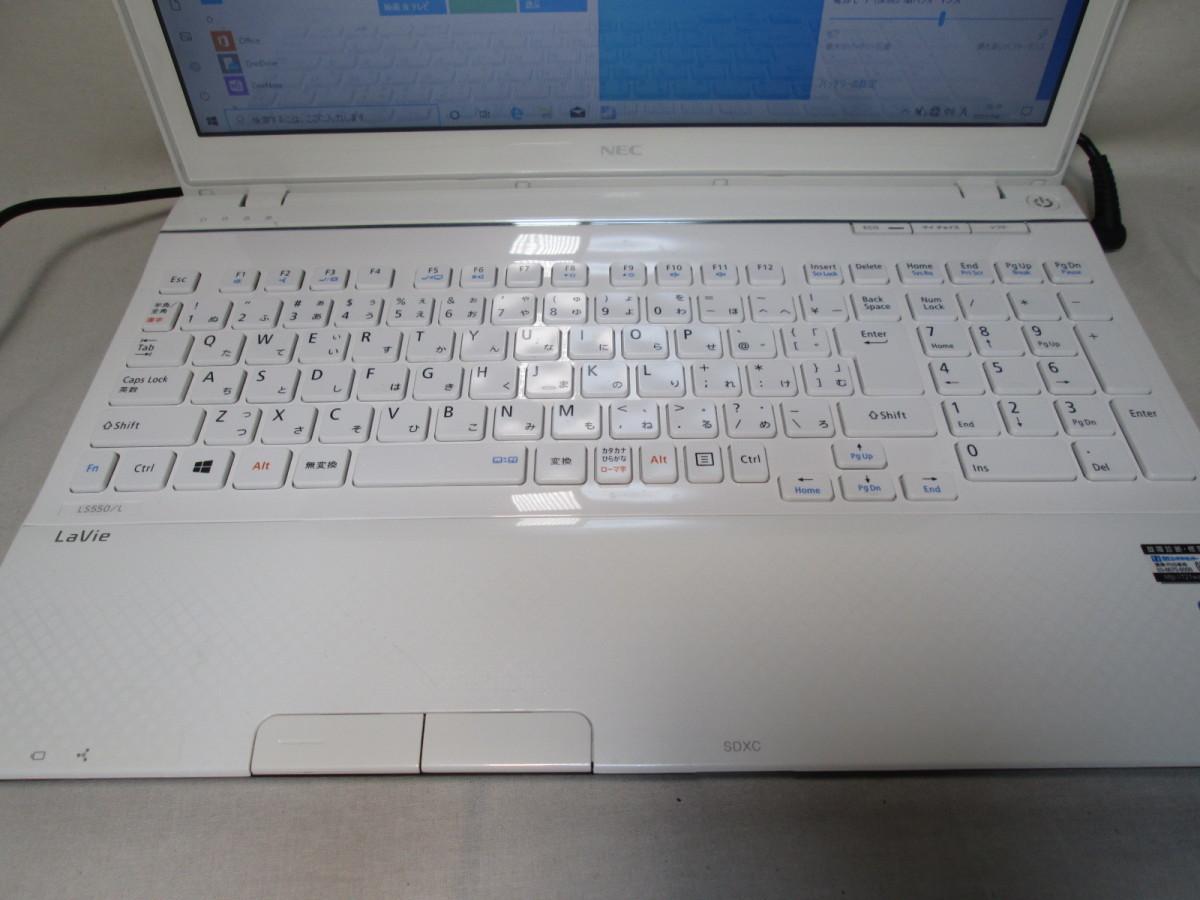 NEC LaVie LS550/LS6W Core i5 3230M 2.6GHz 4GB 240GB 爆速SSD(新品) 15.6型 ブルーレイ Win10 64bit Office USB3.0 Wi-Fi [79089]_画像2