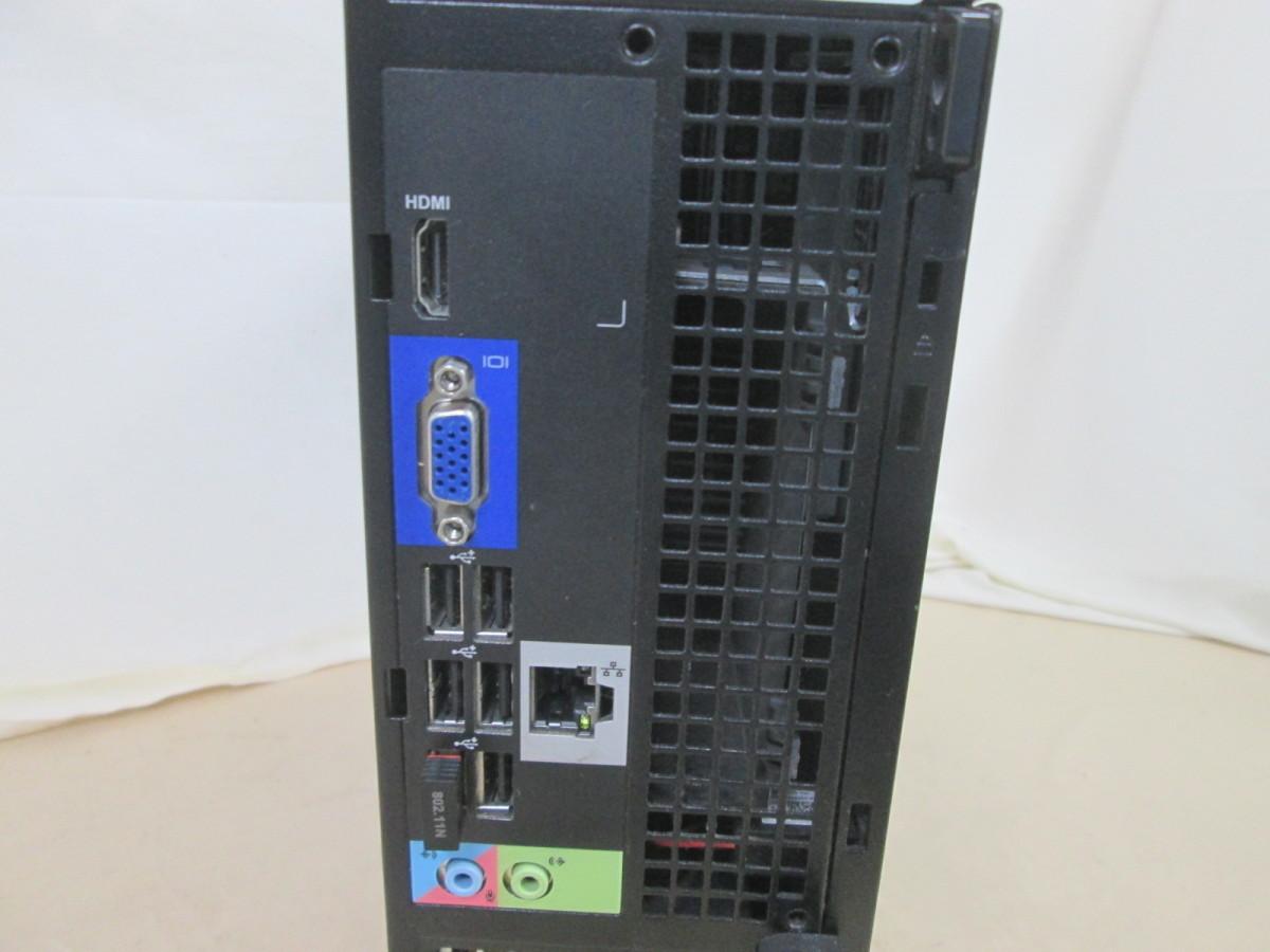DELL OptiPlex 3010 Core i3 3240 3.4GHz 4GB 250GB DVD作成 Win10 64bit Office Wi-Fi HDMI [79109]_画像3