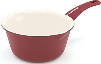 バーガンディレッド 15cm VitaVerde ビタベルデ 「 ソフトグリップ バーガンディ レッド 」 ミルクパン15cm_画像1
