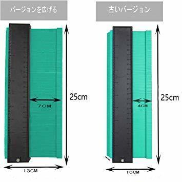 25cmグリーンを広げる 輪郭ゲージ 型取りゲージ コンターゲージ 測定ゲージ DIY複製用 プロフィイルゲージ 不規則測定器_画像3