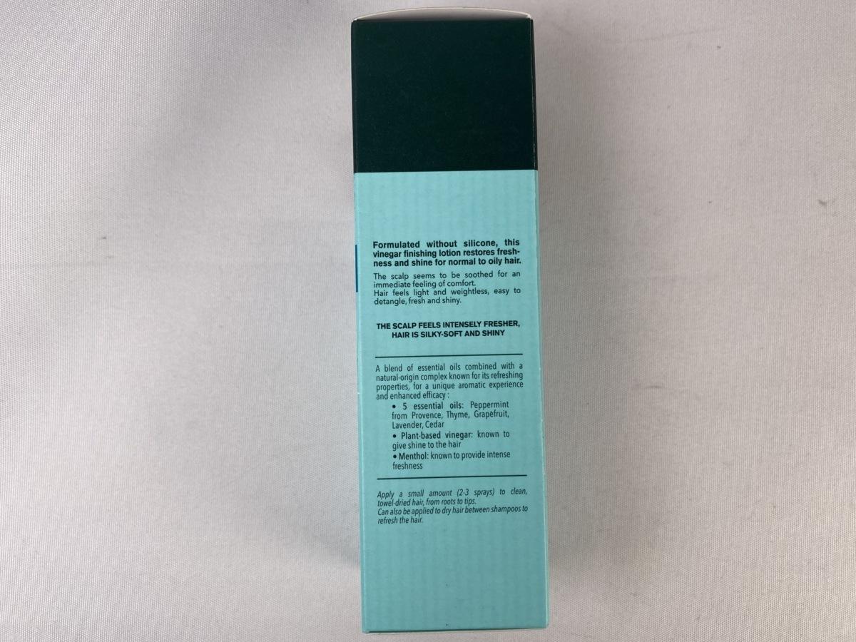 C88087RF 未使用 L'OCCITANE ロクシタン ファイブハーブス ピュアフレッシュネスシャイニングビネガー 100mL 洗い流さないトリートメント_画像2