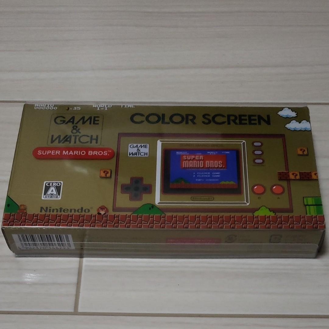 ゲームウォッチ color screen 任天堂 レトロゲーム スーパーマリオブラザーズ