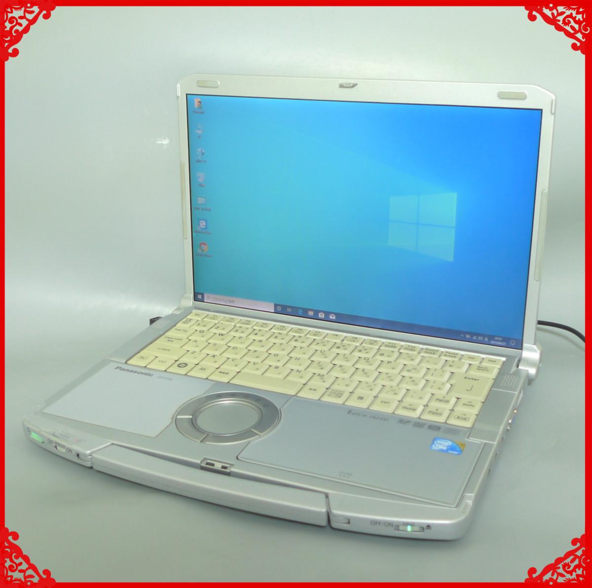 1円~ 1台限定 HDD320GB ノートパソコン 中古動作良品 14.1型 Panasonic CF-F10AWHDS Cor