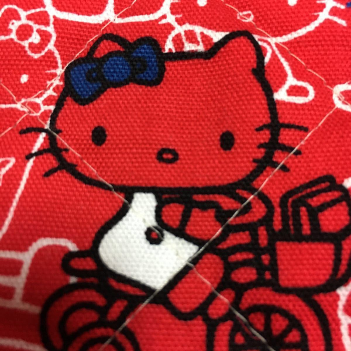 綿キルティング:ハローキティ:キティ&ミミー:生地幅×50:生地ハギレ