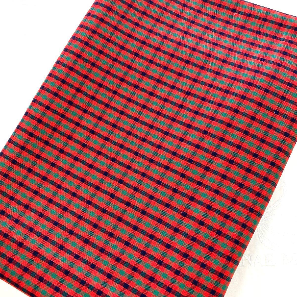 綿ブロード:チェック柄:生地幅×50:生地ハギレ