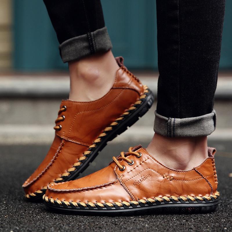 メンズ ビジネスシューズ ローファー 紳士靴 通勤 ドライビングシューズ スリッポン 軽量 通気 カジュアル ブラウン 24.5cm~27cm_画像3