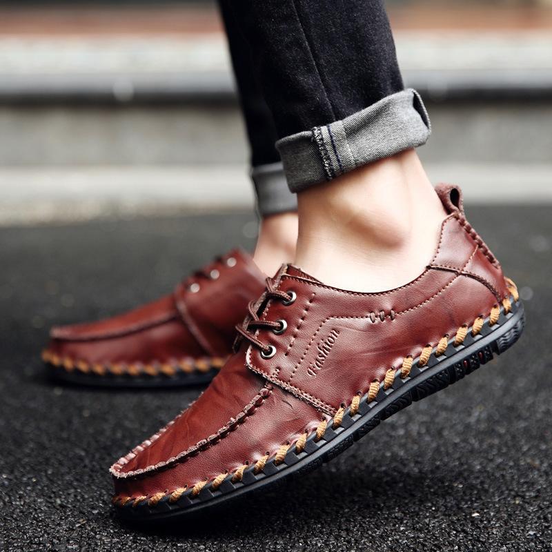 メンズ ビジネスシューズ ローファー 紳士靴 通勤 ドライビングシューズ スリッポン 軽量 通気 カジュアル ブラウン 24.5cm~27cm_画像5
