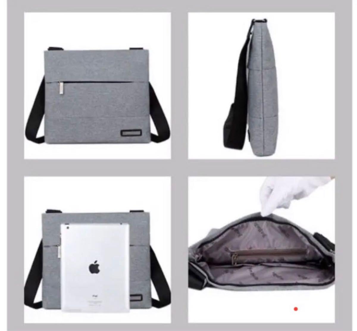 メンズバッグ ビジネスバッグ グレー ショルダーバッグ ボディーバッグ スーツ 鞄 斜め掛け