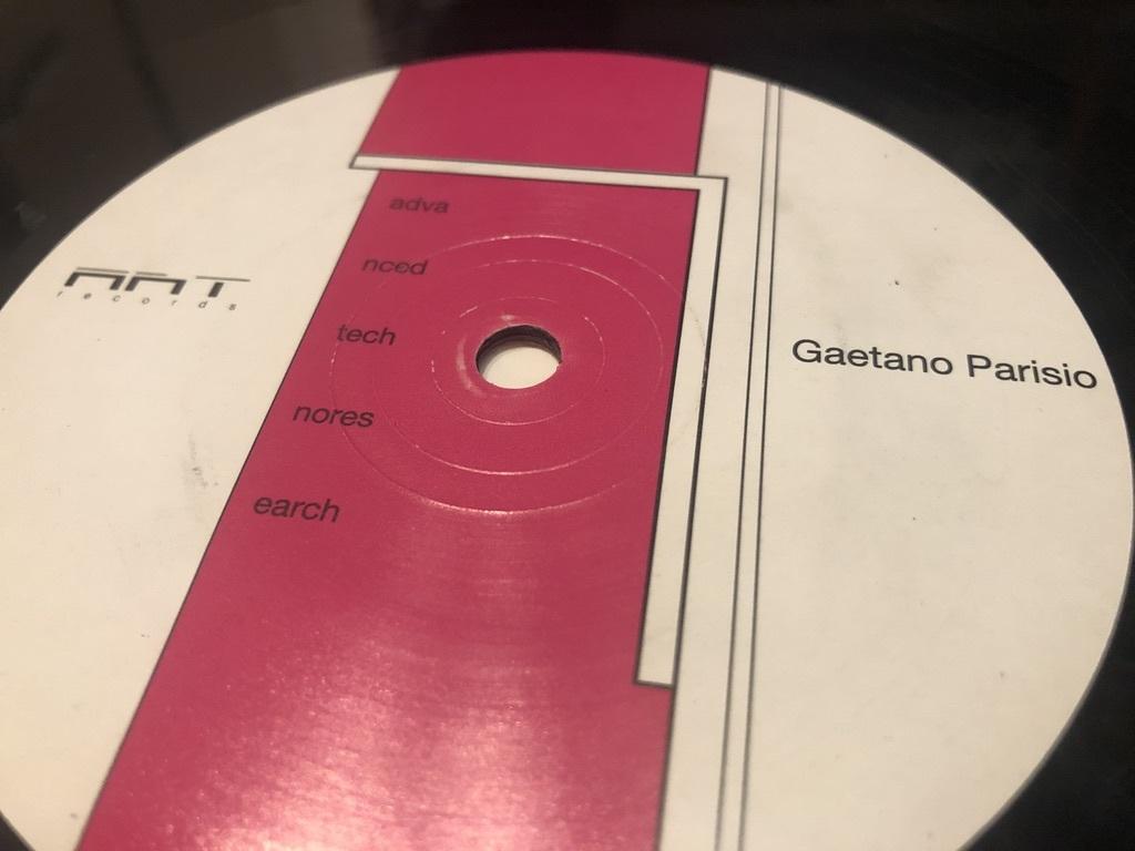 """12""""★Gaetano Parisio / Advanced Techno Research 11/20 / テック・ハウス!"""