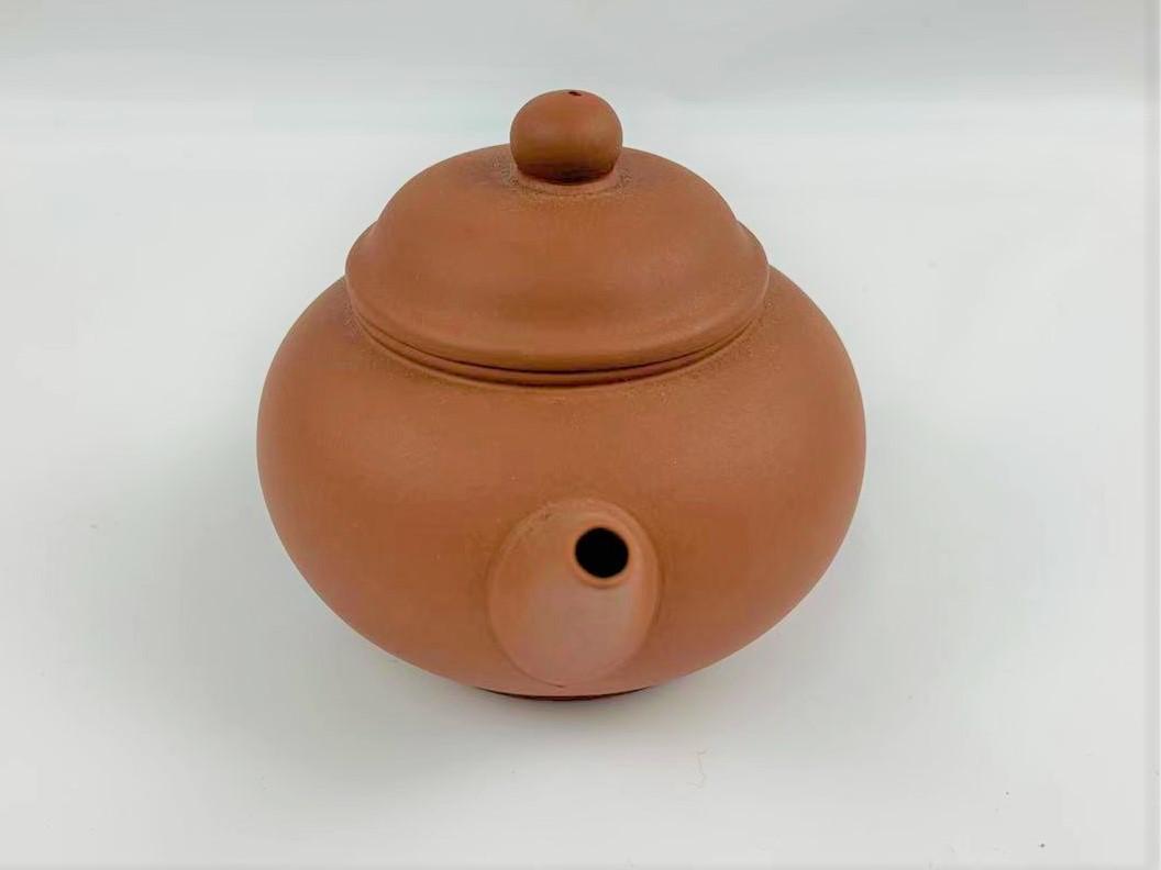 Z11中国宜興 朱泥 急須 紫砂壺 茶器 湯沸 中国美術 中国古玩 唐物煎茶道具 H:7cm Φ:5.5cm_画像4