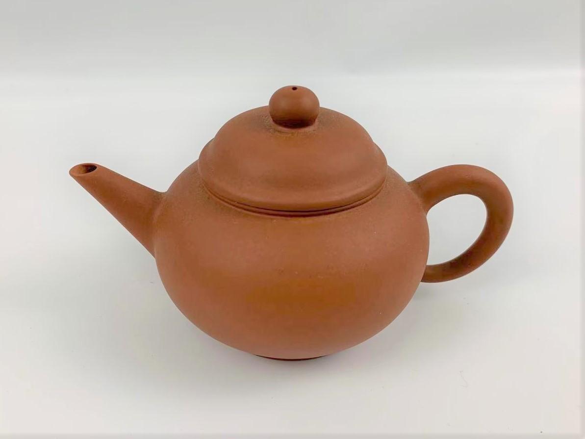 Z11中国宜興 朱泥 急須 紫砂壺 茶器 湯沸 中国美術 中国古玩 唐物煎茶道具 H:7cm Φ:5.5cm_画像1