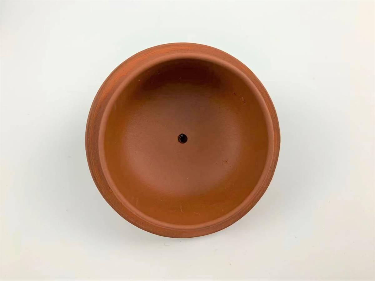 Z11中国宜興 朱泥 急須 紫砂壺 茶器 湯沸 中国美術 中国古玩 唐物煎茶道具 H:7cm Φ:5.5cm_画像6
