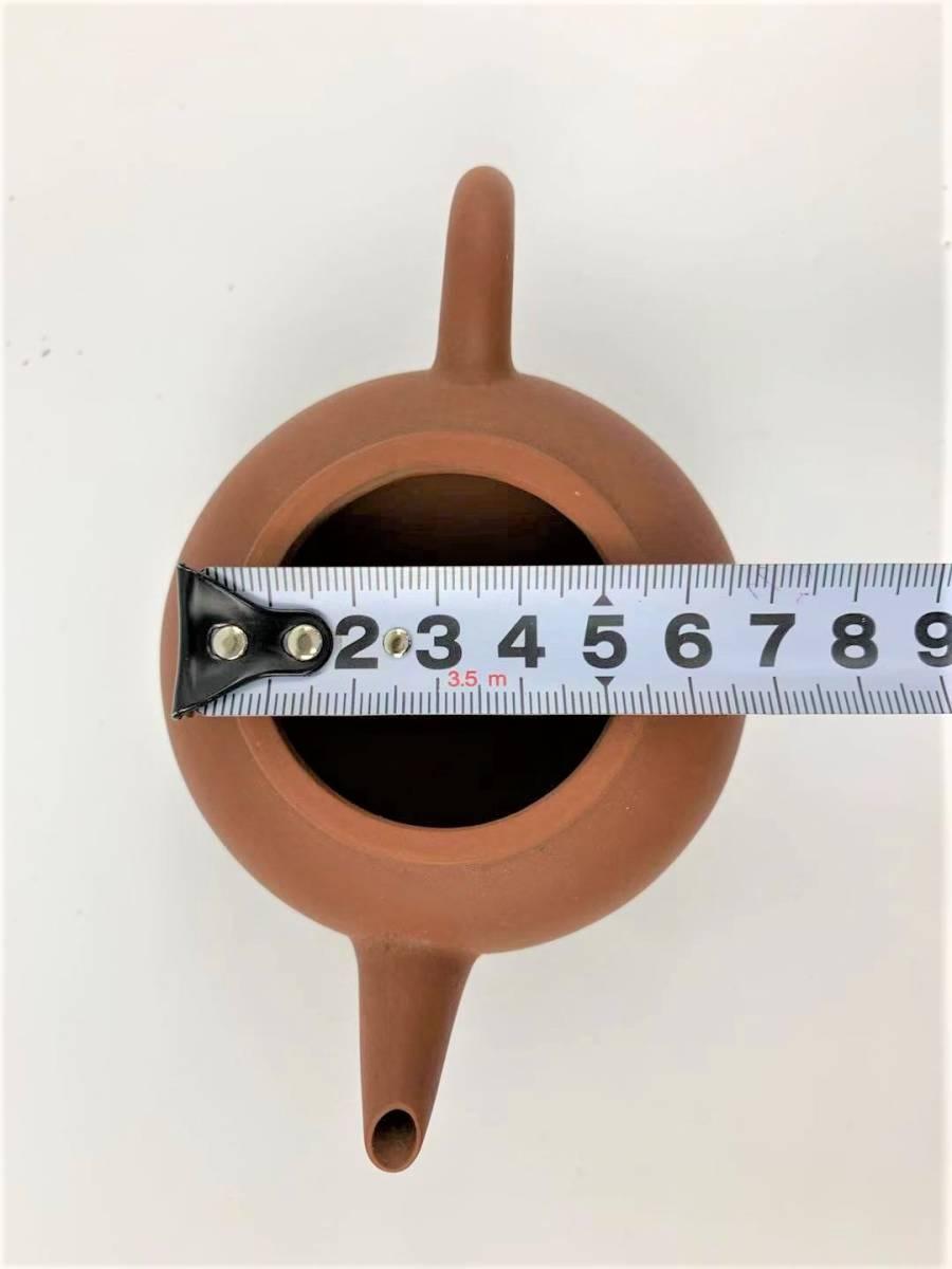 Z11中国宜興 朱泥 急須 紫砂壺 茶器 湯沸 中国美術 中国古玩 唐物煎茶道具 H:7cm Φ:5.5cm_画像9