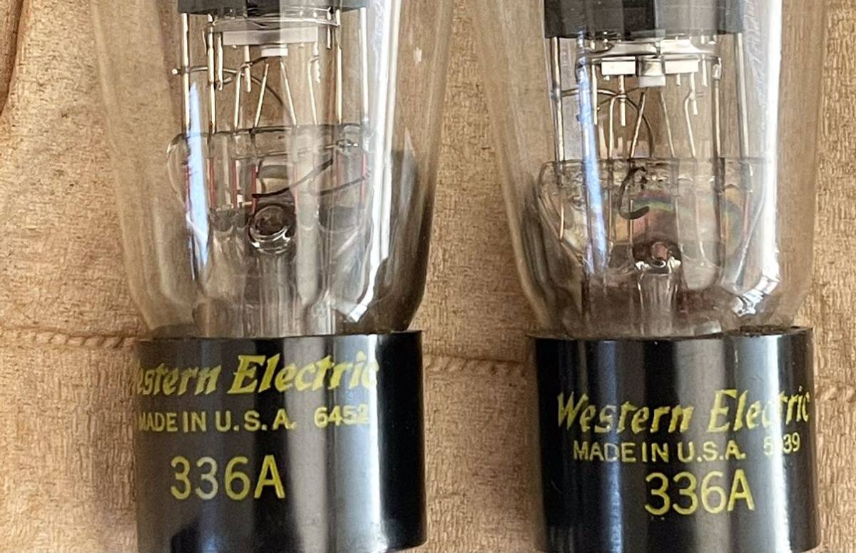 Western Electric WE 336A 2本 チェック済み_画像5