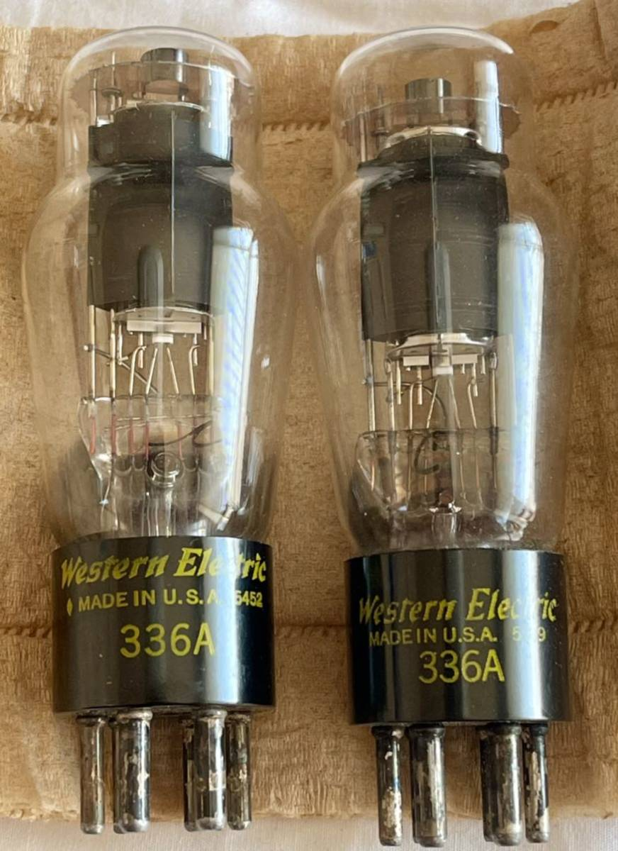 Western Electric WE 336A 2本 チェック済み_画像1