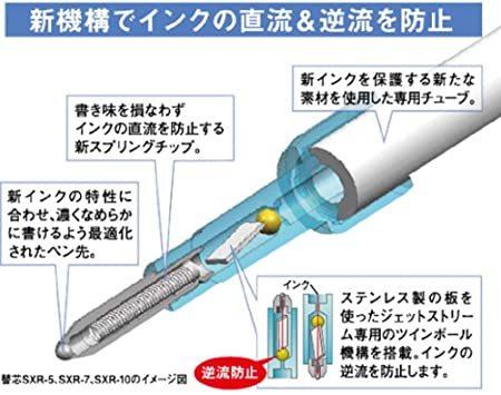▽★□ネイビー 三菱鉛筆 3色ボールペン ジェットストリームプライム 0.7 ネイビー SXE3300007.9_画像7