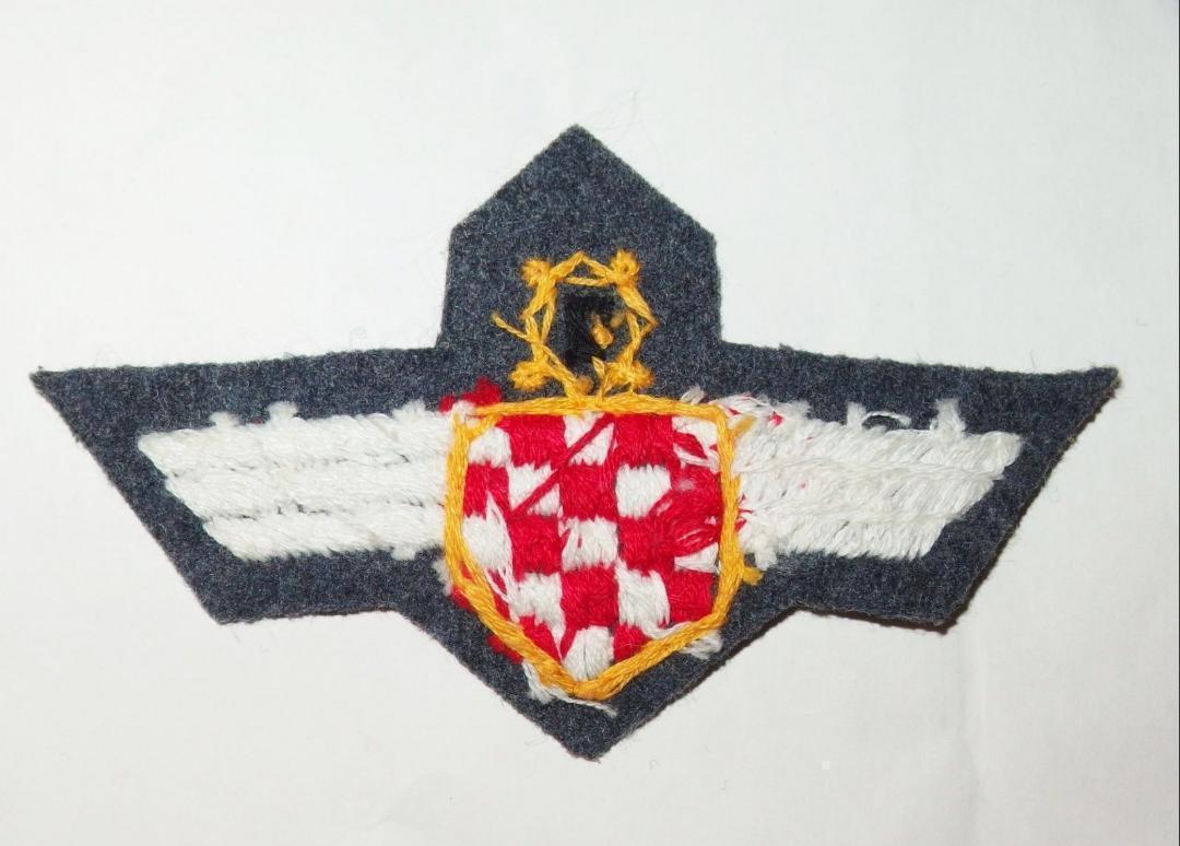 WW2ドイツ空軍クロアチア義勇兵袖章(初期)&胸章_画像2