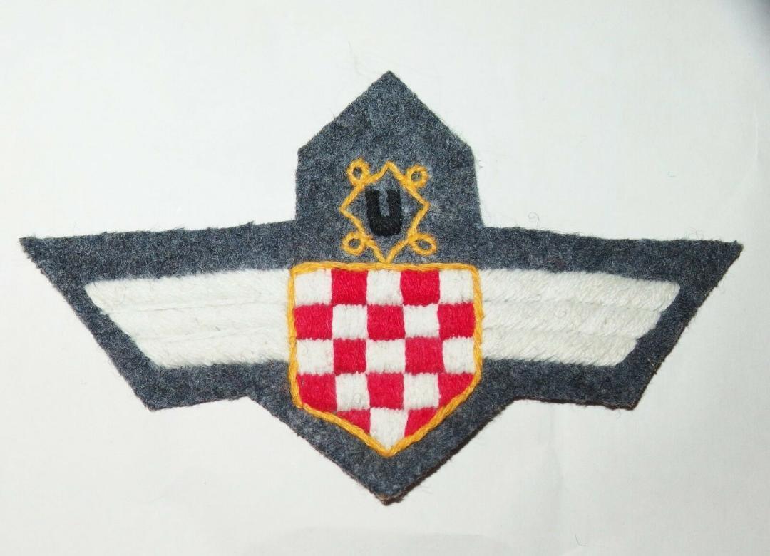 WW2ドイツ空軍クロアチア義勇兵袖章(初期)&胸章_画像1