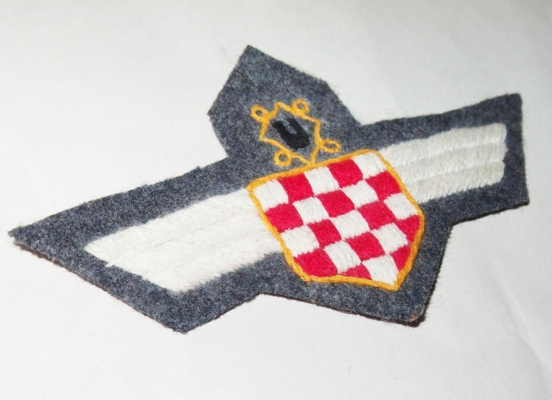 WW2ドイツ空軍クロアチア義勇兵袖章(初期)&胸章_画像3