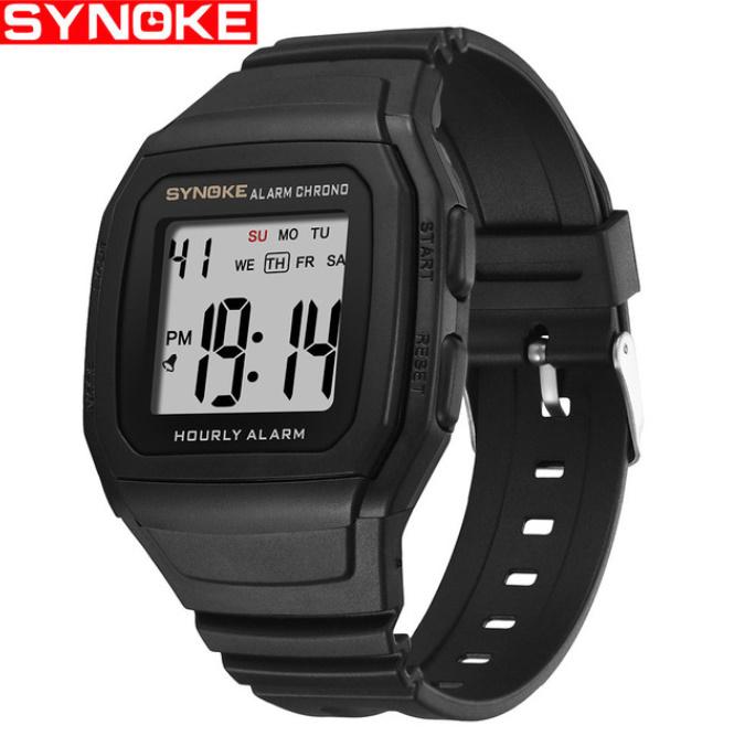 Synokeメンズ腕時計 多機能スポーツ電子時計 男性 防水_画像3