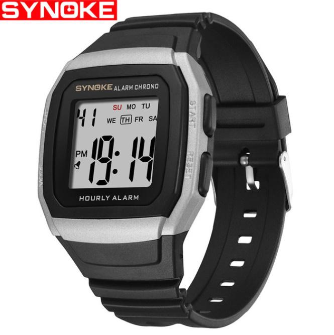 Synokeメンズ腕時計 多機能スポーツ電子時計 男性 防水_画像2