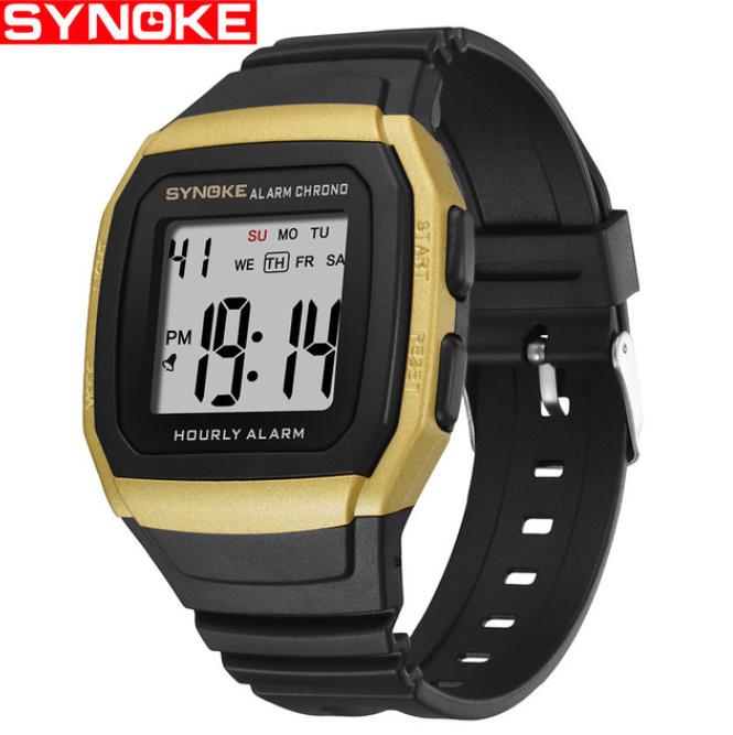 Synokeメンズ腕時計 多機能スポーツ電子時計 男性 防水_画像1