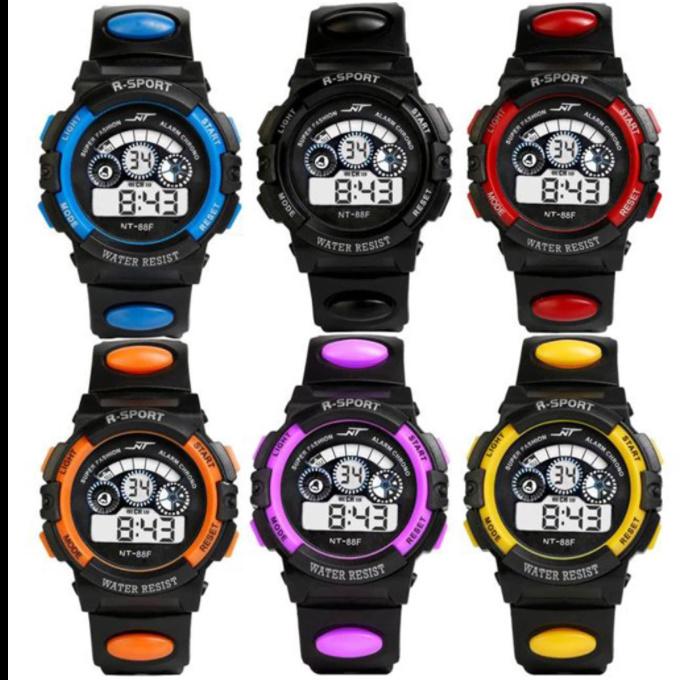 防水メンズ腕時計 デジタルled表示アラーム日付スポーツシリコーン腕時計 男性スポーツ腕時計_画像1