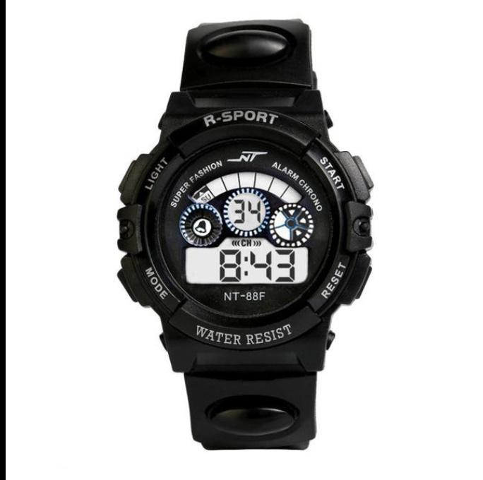防水メンズ腕時計 デジタルled表示アラーム日付スポーツシリコーン腕時計 男性スポーツ腕時計_画像4