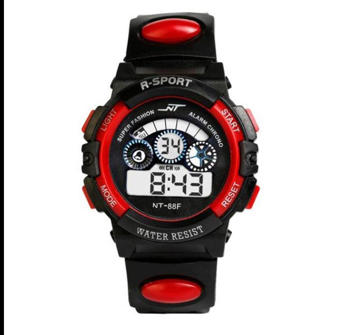 防水メンズ腕時計 デジタルled表示アラーム日付スポーツシリコーン腕時計 男性スポーツ腕時計_画像8
